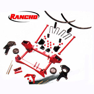 RS6545 Rancho Suspension System Red GM