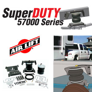 57154 Airlift Super Duty Front Air Spring Kit Ford Excursion and F-Series